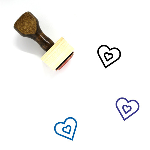 Heart Wooden Rubber Stamp No. 1388