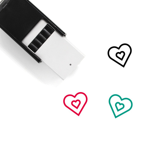 Heart Self-Inking Rubber Stamp No. 1388