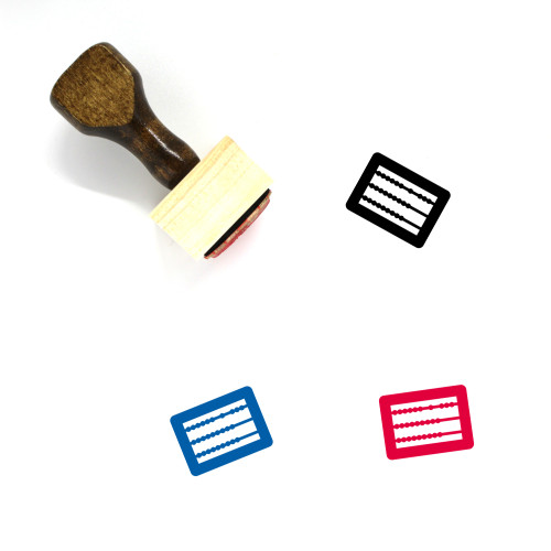 Abacus Wooden Rubber Stamp No. 2