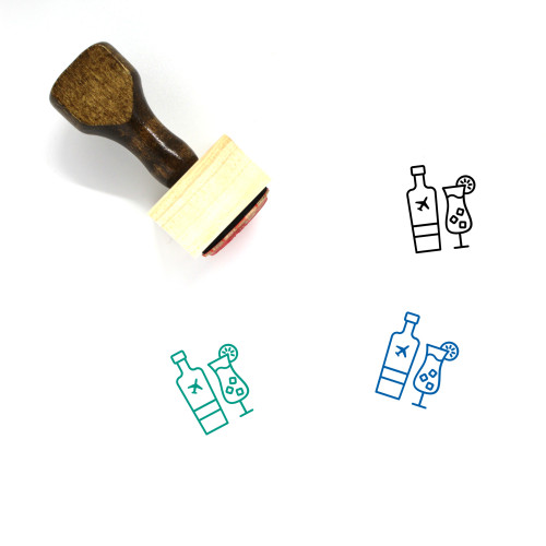 Airport Beverages Wooden Rubber Stamp No. 1