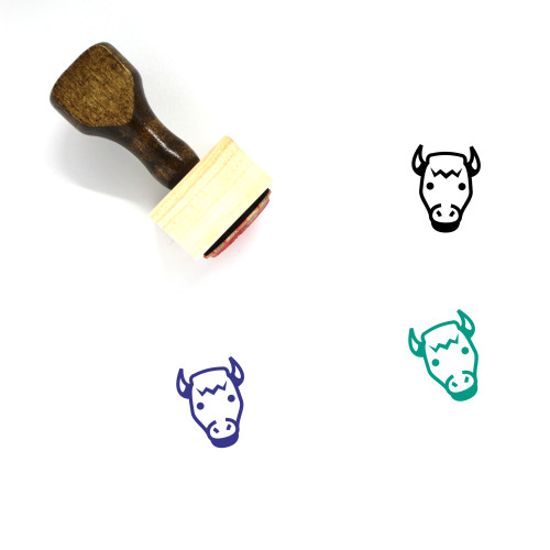Bison Wooden Rubber Stamp No. 3