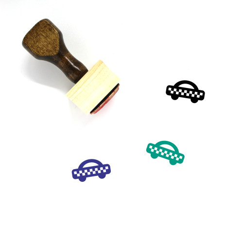 Taxicab Wooden Rubber Stamp No. 2