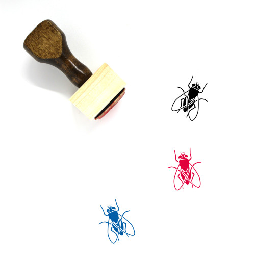 Fly Wooden Rubber Stamp No. 48
