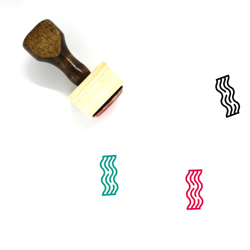 Bacon Wooden Rubber Stamp No. 7