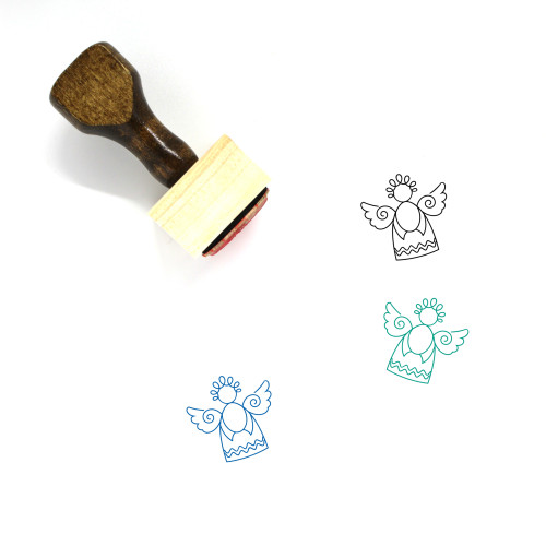 Angel Wooden Rubber Stamp No. 103