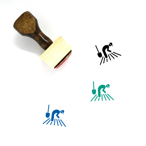 Planting Wooden Rubber Stamp No. 15