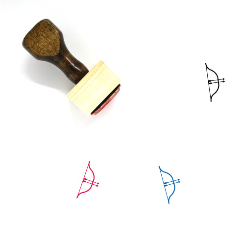 Archery Wooden Rubber Stamp No. 14