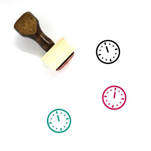 12 O'Clock Wooden Rubber Stamp No. 1
