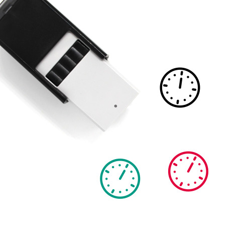 12 O'Clock Self-Inking Rubber Stamp No. 1