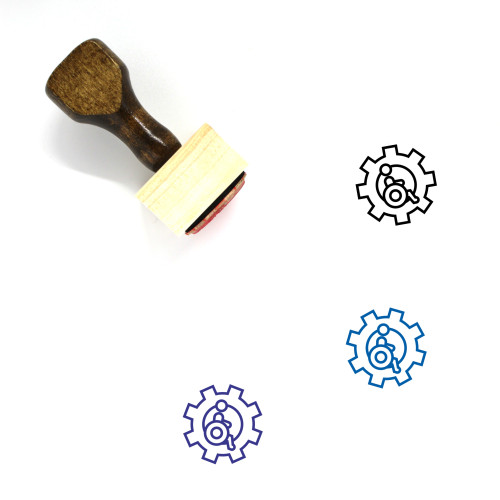 Accessibility Wooden Rubber Stamp No. 18