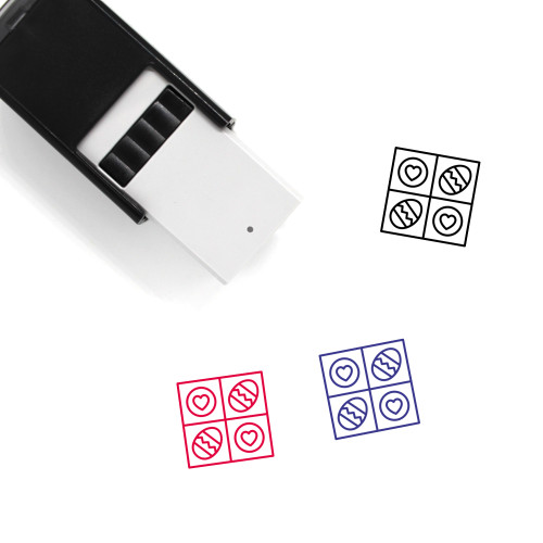 Easter Eggs Self-Inking Rubber Stamp No. 128