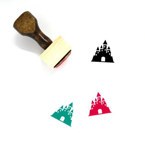 Castle Wooden Rubber Stamp No. 184