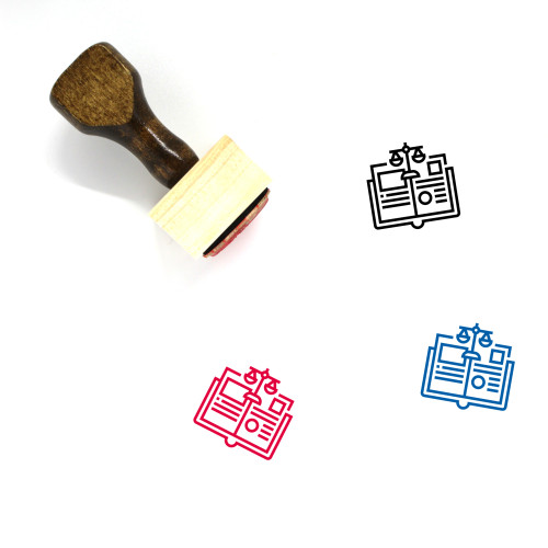 Law Book Wooden Rubber Stamp No. 18