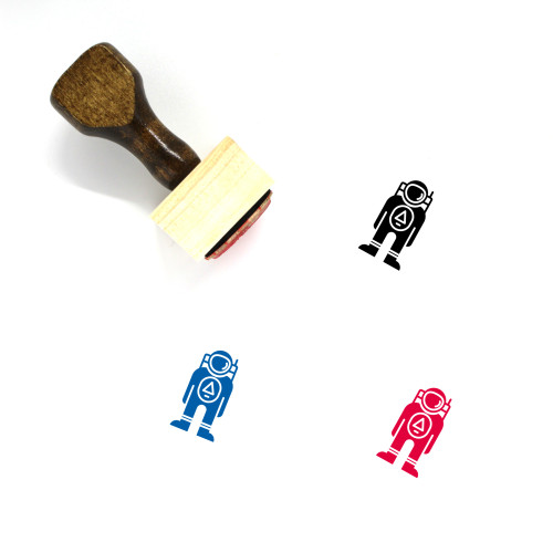 Astronaut Wooden Rubber Stamp No. 38