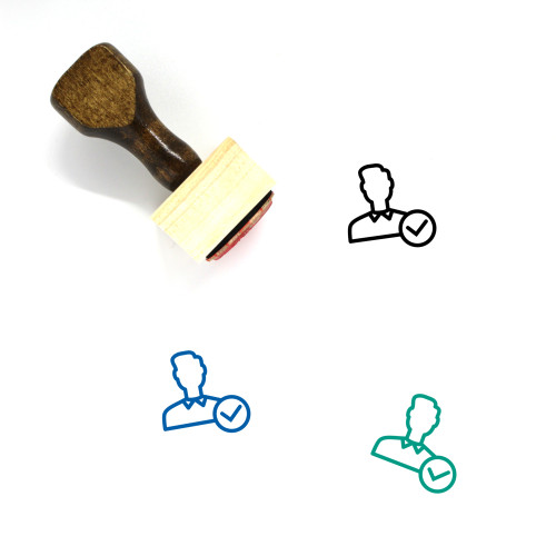 Accept User Wooden Rubber Stamp No. 22