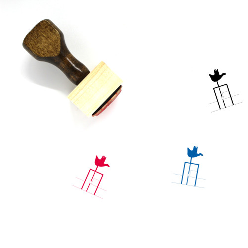 Open Hand Monument Wooden Rubber Stamp No. 2