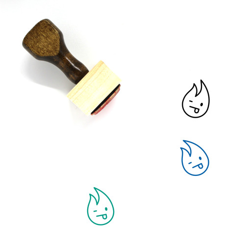 Fire Wooden Rubber Stamp No. 77