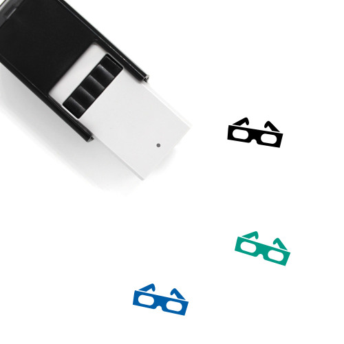 3D Glasses Self-Inking Rubber Stamp No. 25