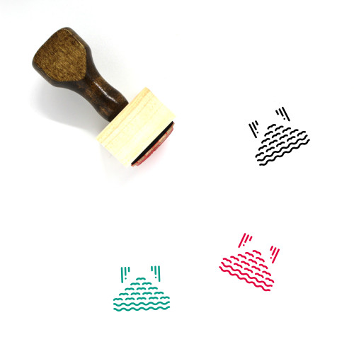 Several Wooden Rubber Stamp No. 1