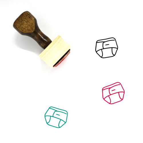 Diaper Wooden Rubber Stamp No. 47