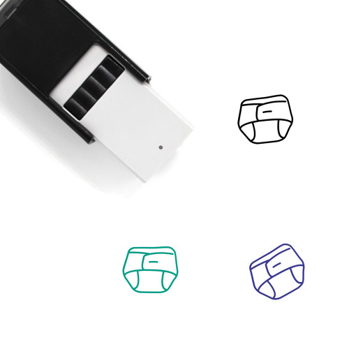 Diaper Self-Inking Rubber Stamp No. 47