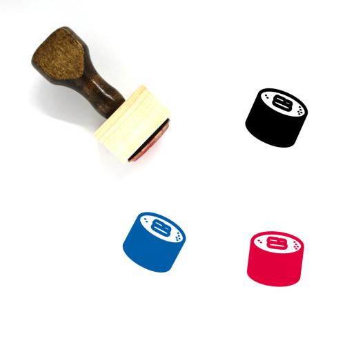 Maki Roll Wooden Rubber Stamp No. 3