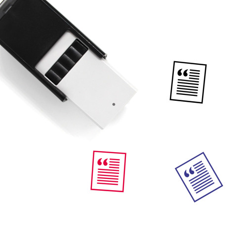 Article Self-Inking Rubber Stamp No. 2
