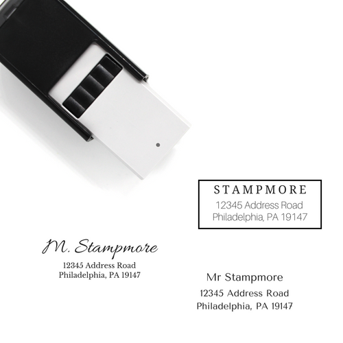 Custom Address Self-inking Rubber Stamp