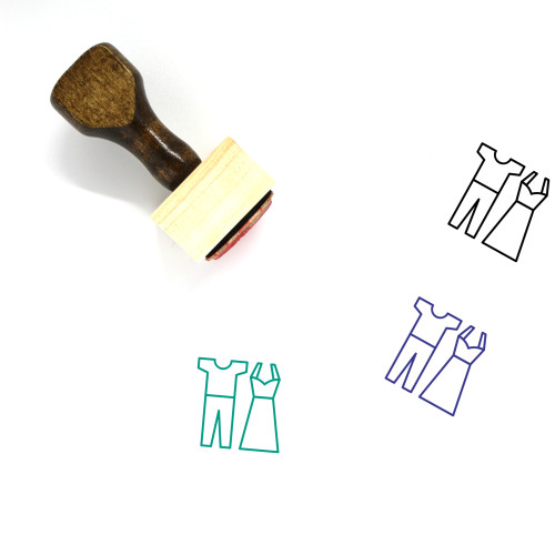 Clothes Wooden Rubber Stamp No. 99