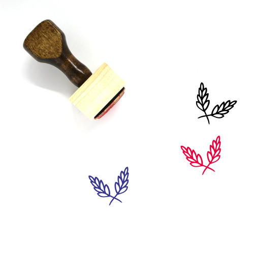 Aromatic Herbs Wooden Rubber Stamp No. 9