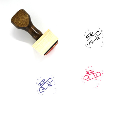 Academic Degree Wooden Rubber Stamp No. 6