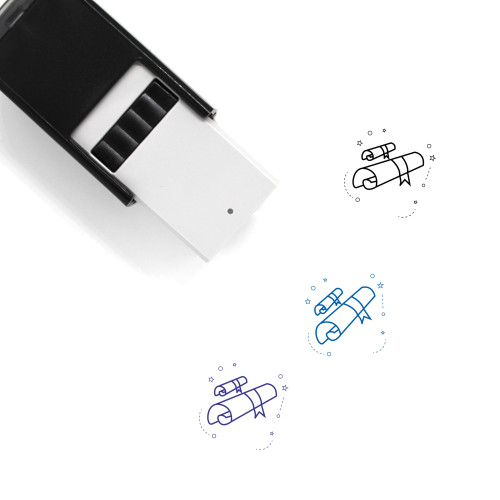 Academic Degree Self-Inking Rubber Stamp No. 6