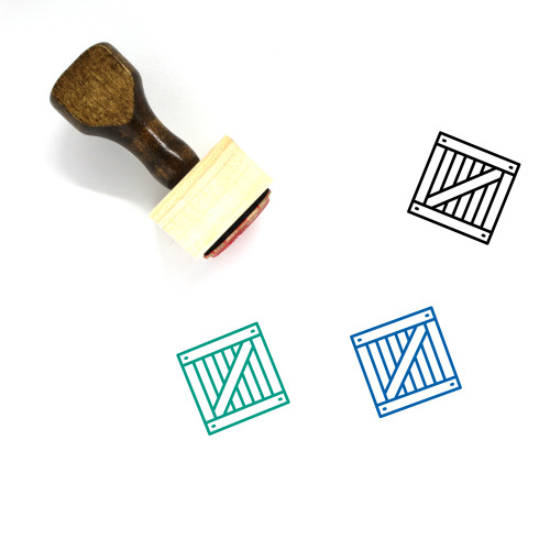 Crate Wooden Rubber Stamp No. 23