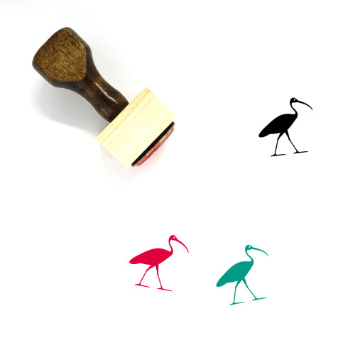 Ibis Hieroglyph Wooden Rubber Stamp No. 1