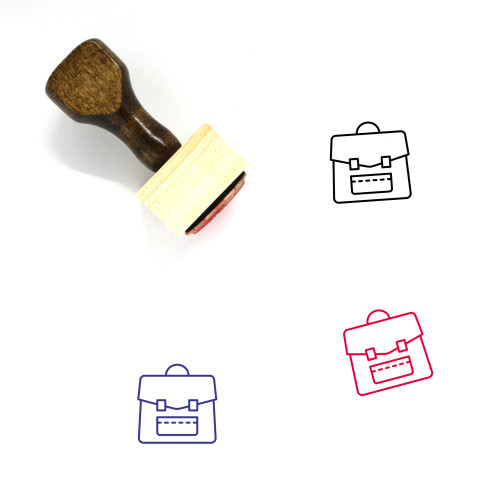Clutch Wooden Rubber Stamp No. 17
