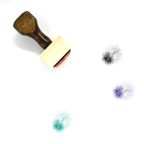 Fireworks Wooden Rubber Stamp No. 97