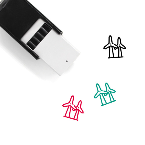 Windmills Self-Inking Rubber Stamp No. 8