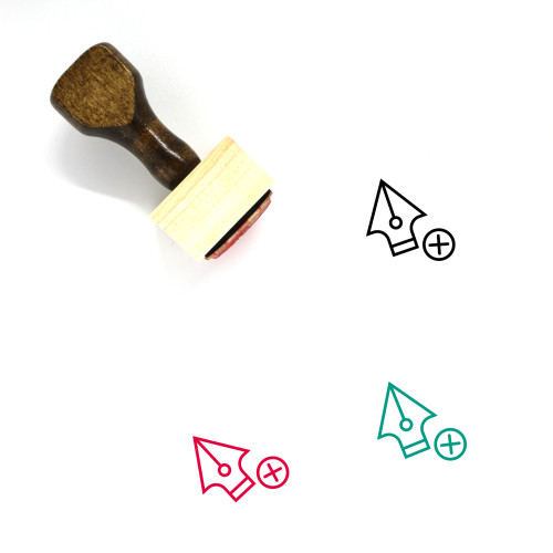 Add Anchor Point Wooden Rubber Stamp No. 12