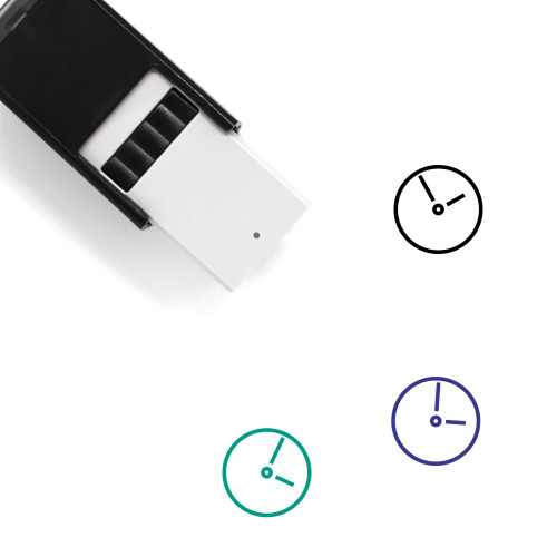 Clock Self-Inking Rubber Stamp No. 108