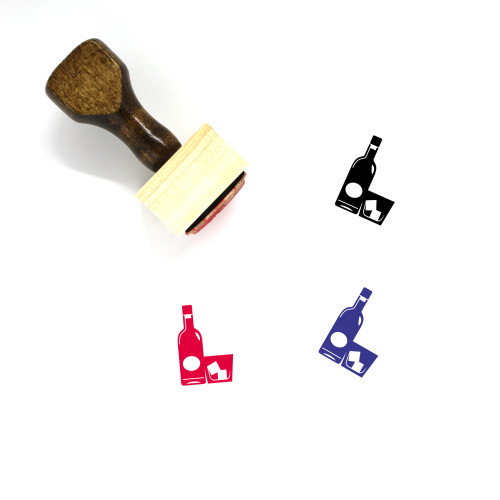 Whiskey Glass Wooden Rubber Stamp No. 9