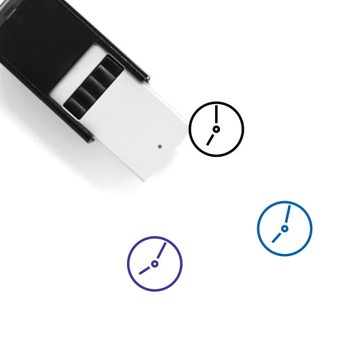 Clock Self-Inking Rubber Stamp No. 110