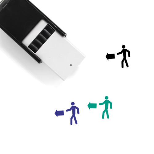 Exit Left Self-Inking Rubber Stamp No. 2