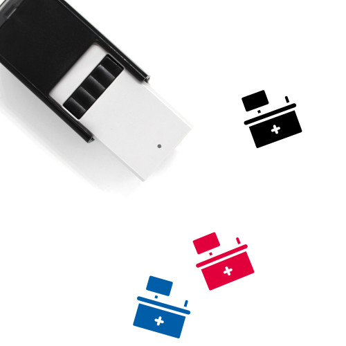 Front Desk Self-Inking Rubber Stamp No. 12