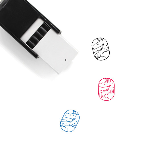 Airplane Window Self-Inking Rubber Stamp No. 5