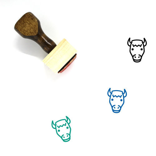 Bison Wooden Rubber Stamp No. 4