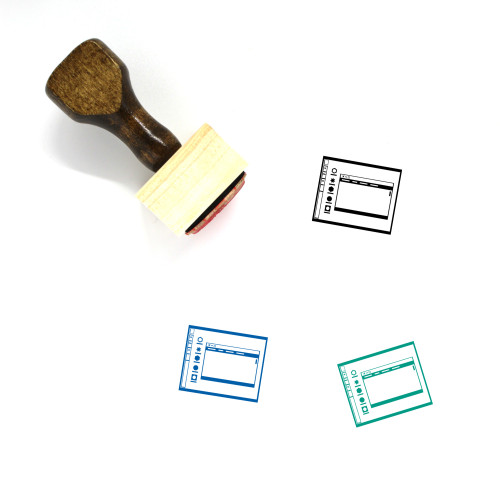 Operating System Layout Wooden Rubber Stamp No. 8