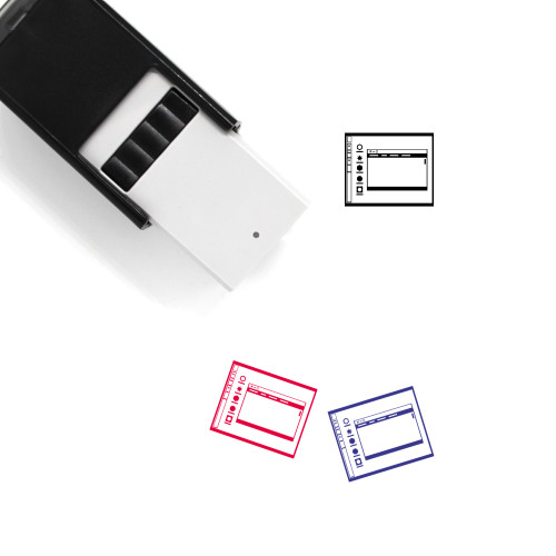 Operating System Layout Self-Inking Rubber Stamp No. 8