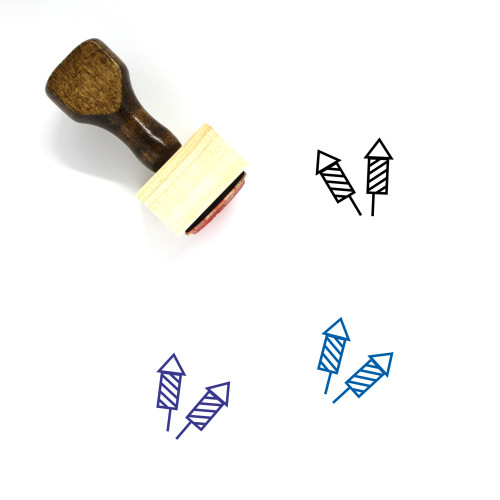 Crackers Wooden Rubber Stamp No. 23