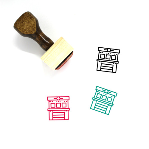 Fire Station Wooden Rubber Stamp No. 18