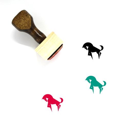 Horse Wooden Rubber Stamp No. 94
